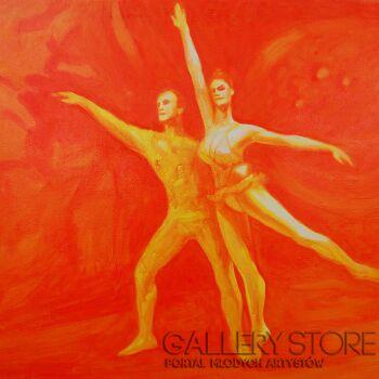 Roman Kaczmarek-Figura baletowa-Olej