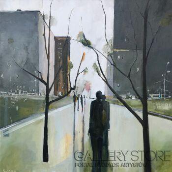 Romuald Mulk Musiolik-Greenwich i jego ostatnia zieleń-Olej