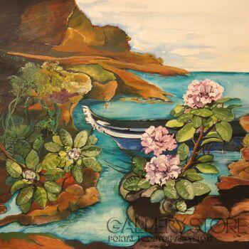 Sylwia Mirowska-Ignacok-zatoka rododendron-Technika mieszana