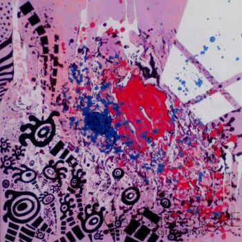Sylwia Wieczorek Wójcik-Różowa abstrakcja-Akryl