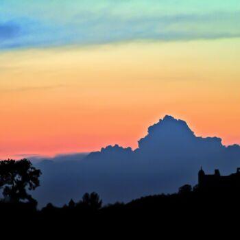 Szczepan Kurzeja-Sunset over the castle-Fotografia