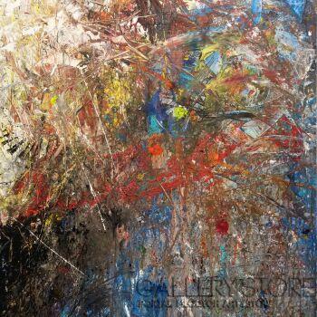 Tomasz Groma-Abstrakcja zimowa -Akryl