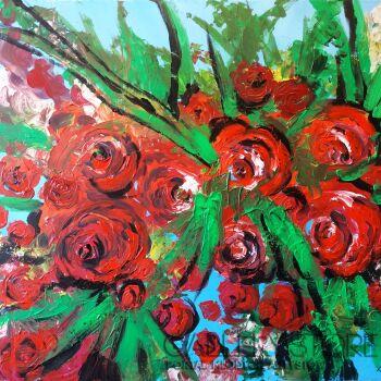 Tomasz Groma-Róże-Akryl
