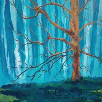 Tomasz Ochmański-Czerwone drzewo w zaklętym lesie-Olej
