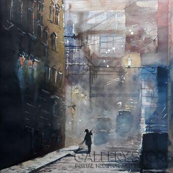Tomasz Olszewski-Industrial Old London-Akwarela