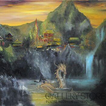 Vera Derevyanko-Dolina Złotego Smoka-Olej