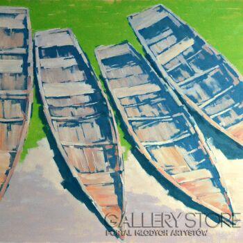Wiaszesław Rogin-4 starych łodzi-Olej