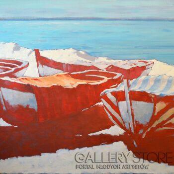 Wiaszesław Rogin-Czerwone łodzie-Olej