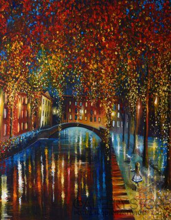 Agata Buczek-Złoty deszcz-Akryl