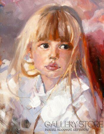 Krzysztof Tracz-Portret dziecka-Olej