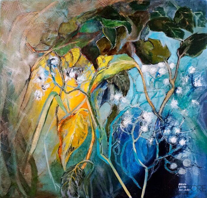 Anna Lupa-Suchy-Kobaltowe światło-Olej