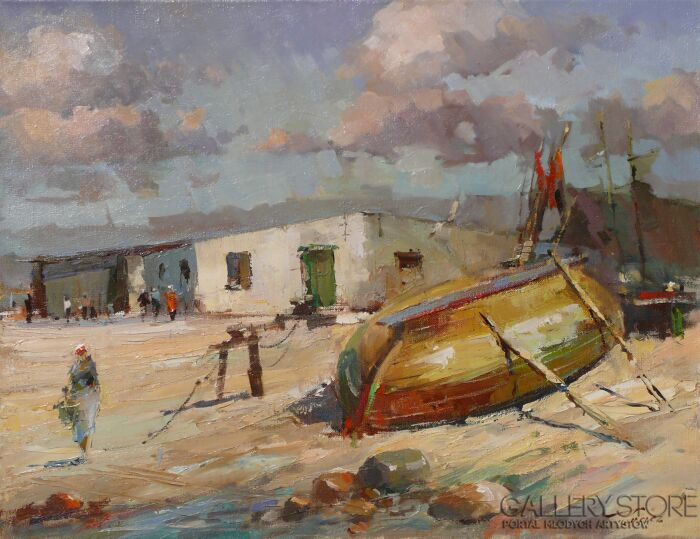 Krzysztof Tracz-Przystań rybacka w Unieściu-Olej