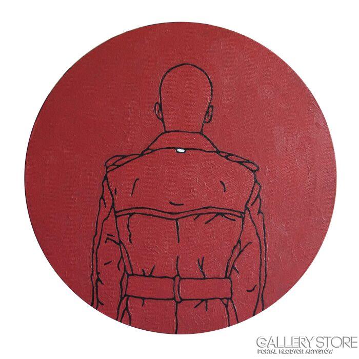 Marcin Lenczowski-Czerwony #13-Akryl