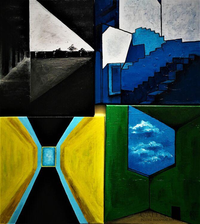 Monika Wojtyła-KWADRYPTYK Architektury-Akryl