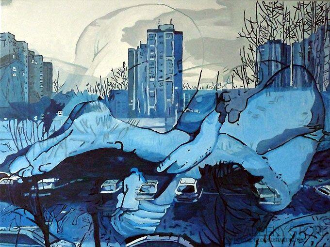 Piotr Smogór-figurative_landscape-Olej