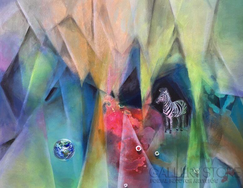 Agata Padol-Błękitna planeta-Akryl