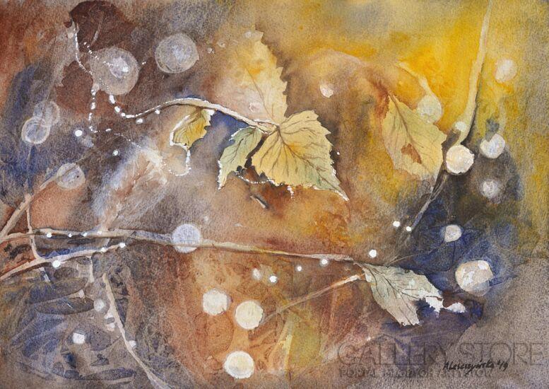 Agnieszka Leszczyńska-Magic autumn II-Akwarela
