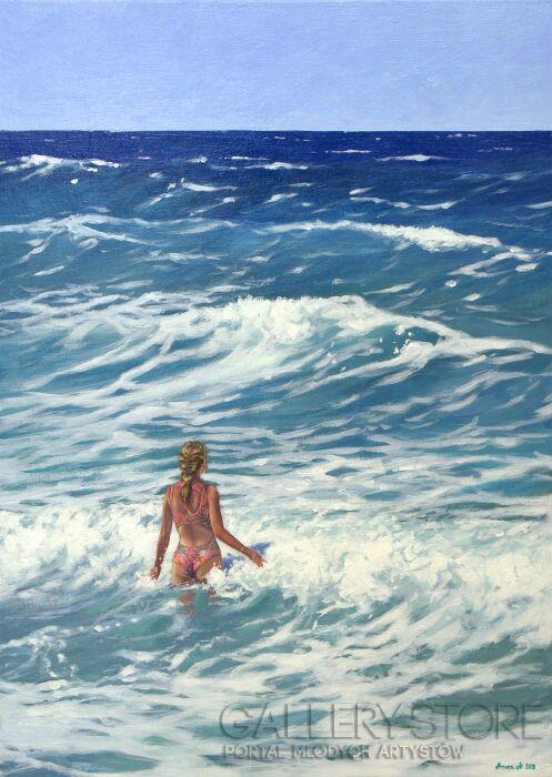 Agnieszka Mrowca-I watch the waves II-Akryl