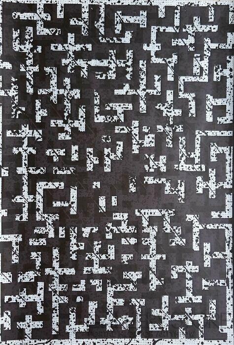 Amadeusz Popek-Labyrinth-blizzard-black-Grafika