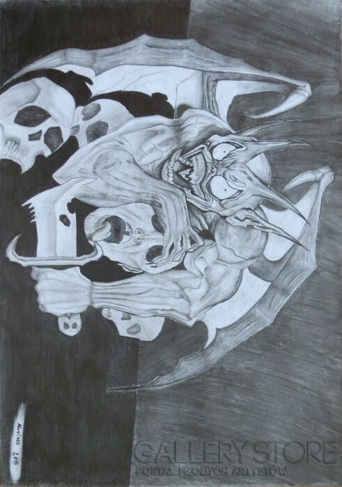 Aneta  Lachendro-DEMON -Rysunek