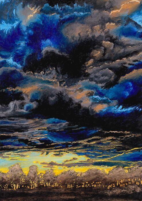 Angelika Mus-Nowak-Czarne chmury-Rysunek