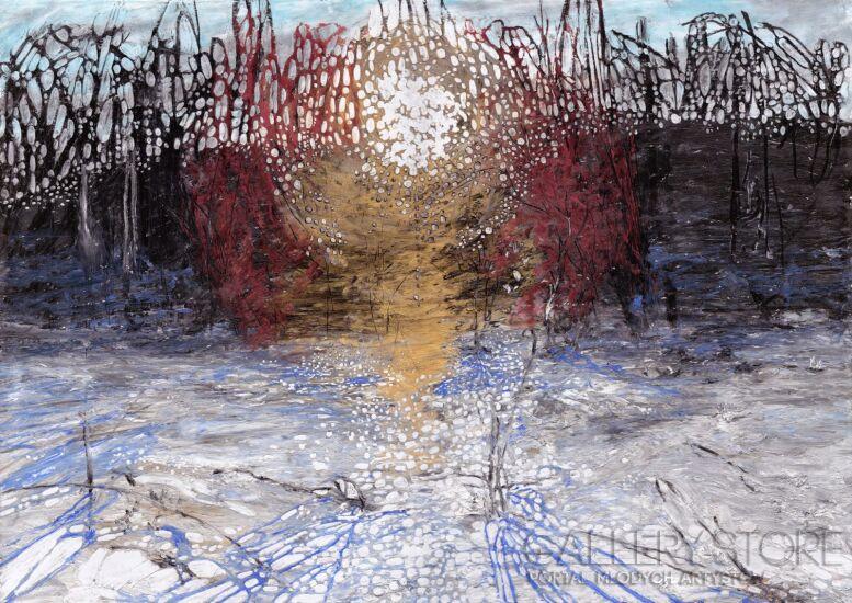 Angelika Mus-Nowak-Kawałki śnieżnego słońca-Rysunek