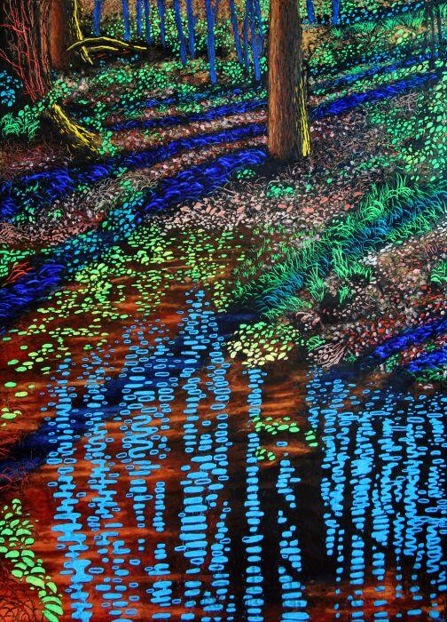 Angelika Mus-Nowak-Każda woda utworzy inne drzewa odbicie-Rysunek