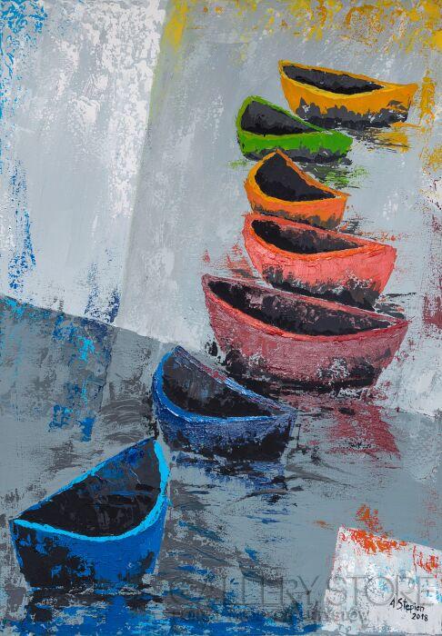 Ania Stępień-Marynistyczna abstrakcja 2-Akryl