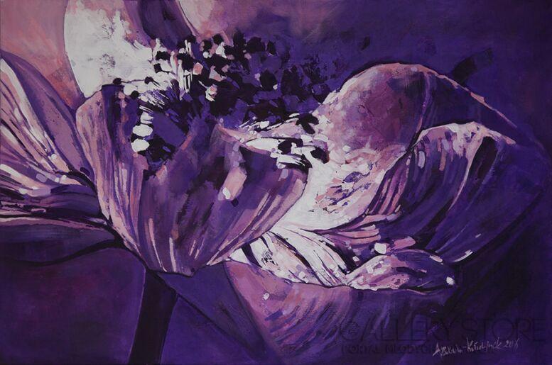 """Anna Bukowska-Kołodziejczak-z cyklu """"kwiaty""""-Akryl"""