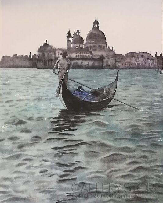 Anna Zabielska-Gondola-Akwarela