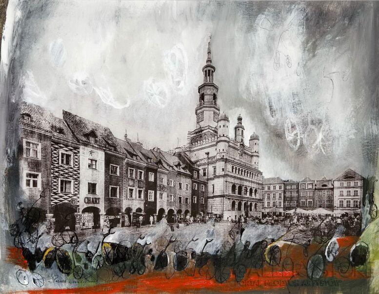 Dagmara Kwiatek-Kamińska-Poznań i rowery-Rysunek