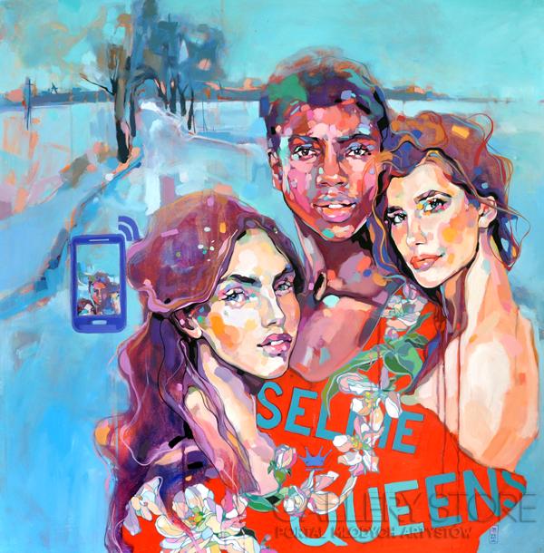 Dominik Jasiński-Selfie Queens (Charities)-Olej