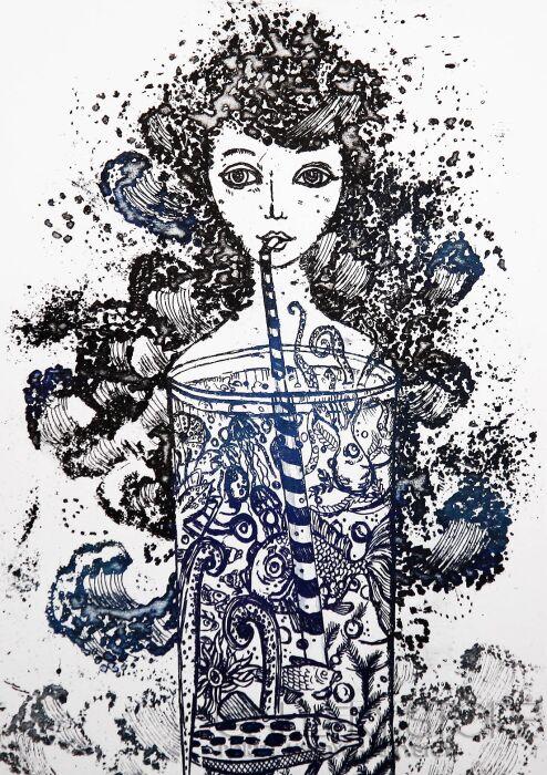 Ewa Narloch-Kerszka-Akwarium-Grafika