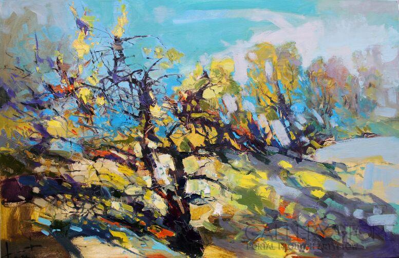 Henadzy Havartsou-Jesienny krajobraz-Olej