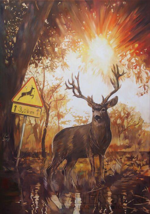 Janusz Orzechowski-Deer-Olej