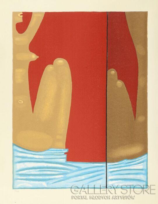 Jerzy  Nowosielski-AKT Z LUSTREM, 1998-Serigrafia