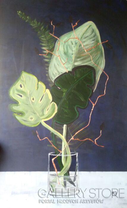 Joanna Pyrskała-Palm tree vase.-Akryl