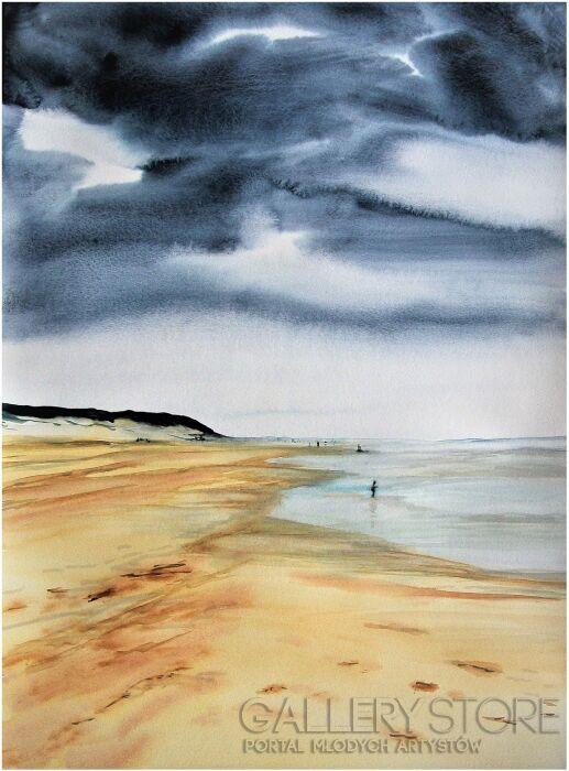 Joanna Sadecka-W pochmurny dzień-Akwarela