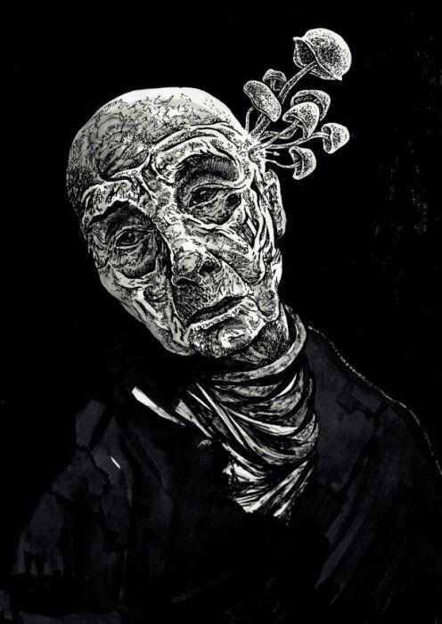 Krzysztof Schodowski-Portret halucynogenny-Rysunek