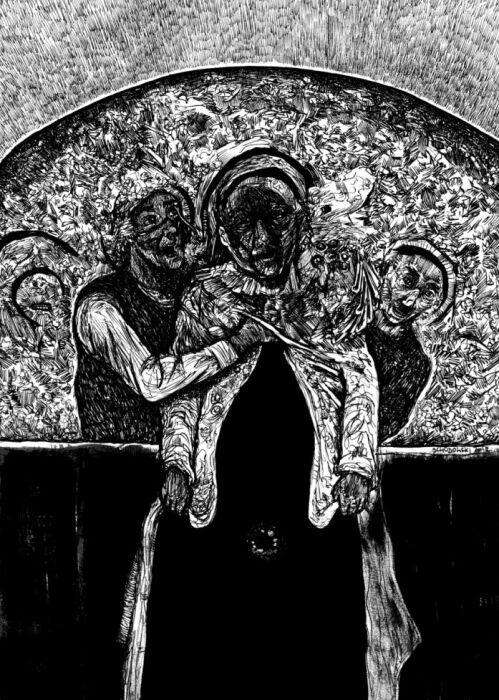 Krzysztof Schodowski-Roz-ż-ebranie-Rysunek