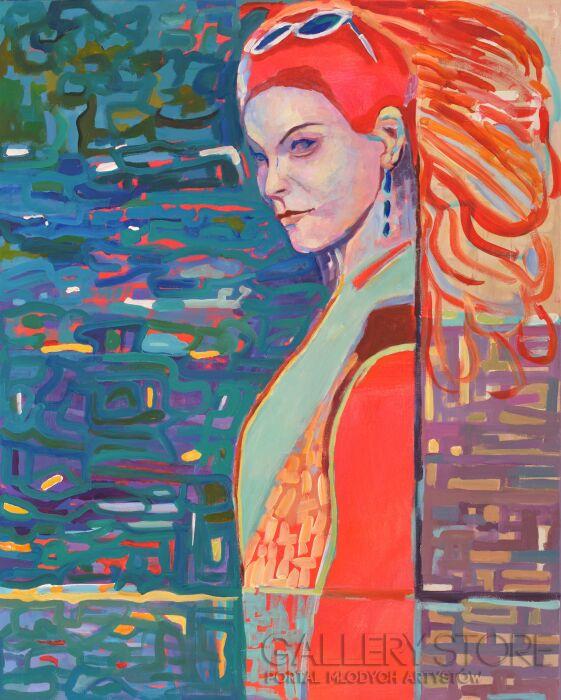 Magdalena Walulik-Cykl Ludzie – Kobiety: Ktoś za mną chodzi -Akryl