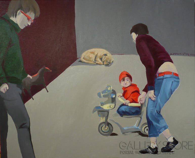 Małgorzata Łodygowska-''Rodzina''-Akryl