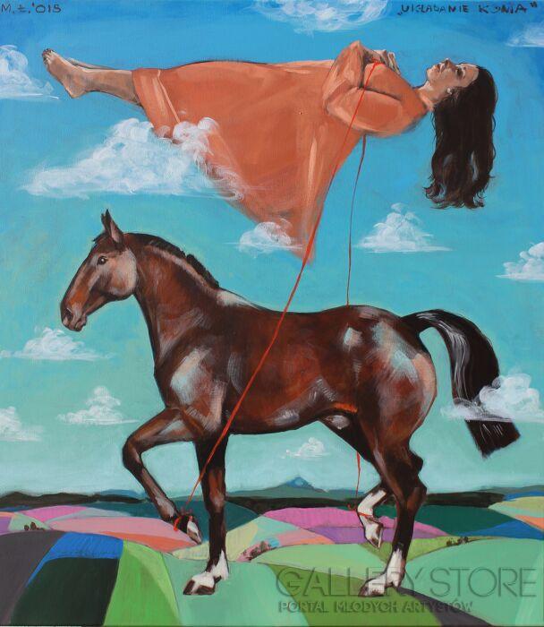 Małgorzata Łodygowska-Układanie konia-Akryl