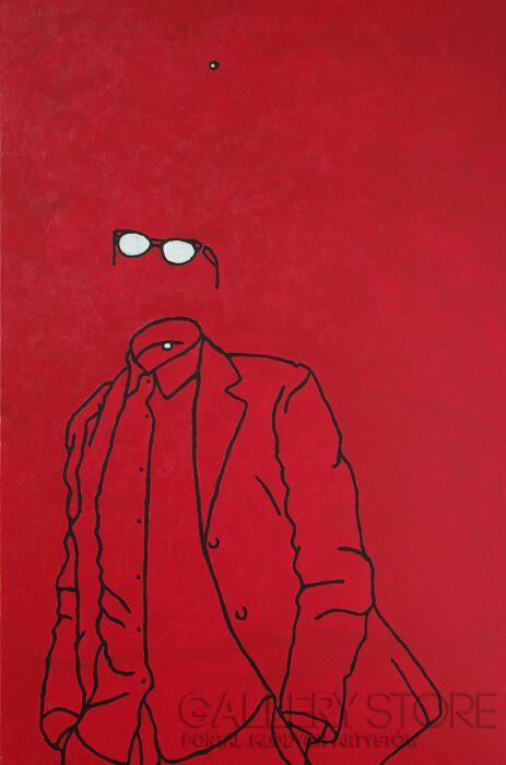 Marcin Lenczowski-Czerwony #6-Akryl