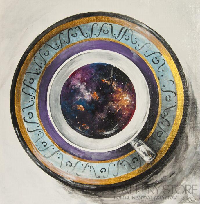 Maria Michoń-Kosmos w mojej kawie-Akryl