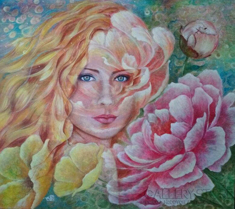 Marija Holubieva-Flora-Akryl
