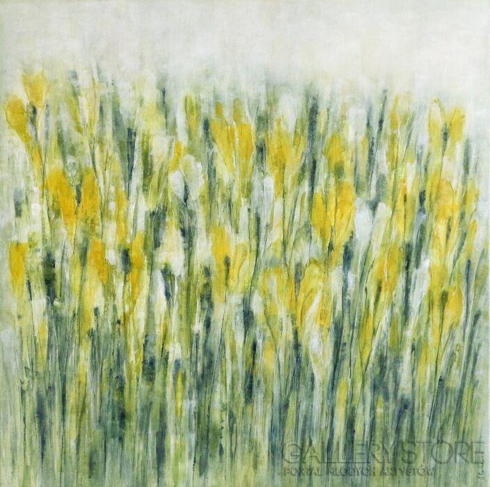 Marta Machowicz-Wiosna trzy kolory -Olej