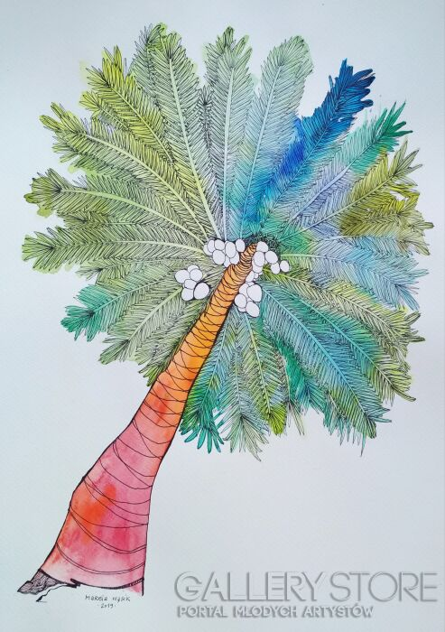 Marysia Wąsik-Top 3 Palma-Rysunek