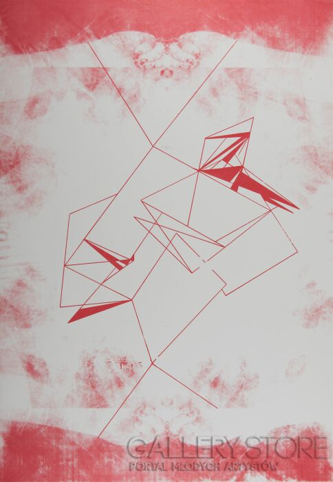 Monika Cichosz-Red Line-Serigrafia