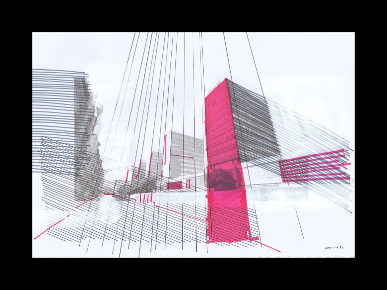 Natalia Rozmus-deconstructing hometown /seria #Poznań-Rysunek